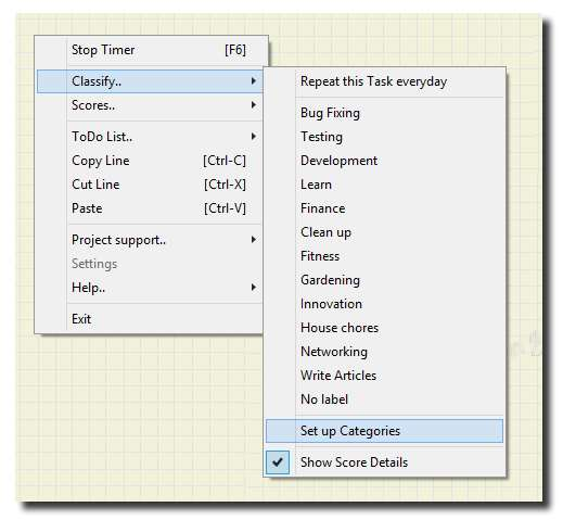 How to set up Task Categories