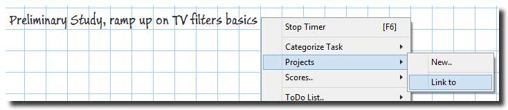 Task linked to a Project